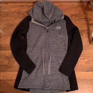 North Face tunic zip sweatshirt